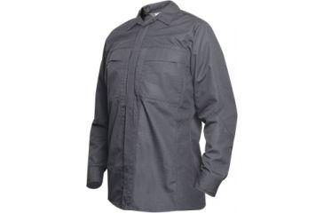 Vertx Phantom Ops L/S Zipper Shirt- Smoke Grey Ripstop 65% Poly/35% Cotton, 2XL-Long VTX8720SMG-2XL-LONG