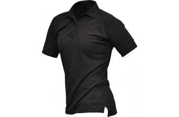 Vertx Women's Coldblack Short Sleeve Polo Shirt, Black, Size Large VTX4010BKP-LARGE