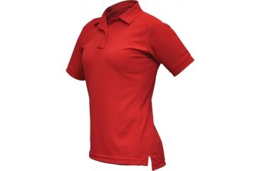 Vertx Women's Coldblack Short Sleeve Polo Shirt, Red, Size Large VTX4010RDP-LARGE