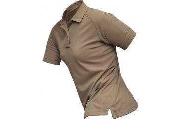 Vertx Women's Coldblack Short Sleeve Polo Shirt, Tan, Size Large VTX4010TNP-LARGE