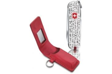 Victorinox Classic SD- Limited Edition w/ Leather Mirrored Pouch, Love Song / Red Pouch 58228