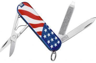 Victorinox Classic SD U.S. Flag Swiss Army Knife Red White Blue 54216