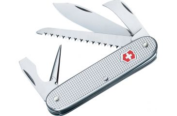 Victorinox Pioneer Harvester Swiss Army Knife Silver Alox Ribbed 53953