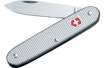 Victorinox Solo Alox Swiss Army Knife Silver Alox Ribbed 53950