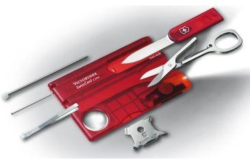 Victorinox SwissCard Lite White Light Swiss Army Multi Tools Ruby 53331