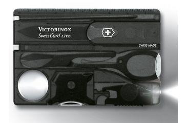 Victorinox SwissCard Lite White Light Swiss Army Multi Tools Onyx 53333