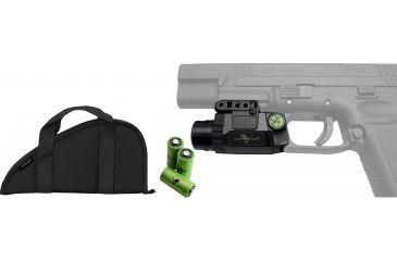 Viridian Zombie Universal Fullsize Green Laser Sight KIT2 w/ Pistol Case BD600VR & CR123 Battery VIR-CR123-3