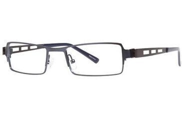 Visions 193 Bifocal Prescription Eyeglasses - Frame Navy/Pewter, Size 50/18mm VIVISION19303