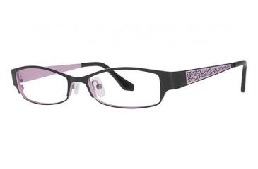 Visions 195 Progressive Prescription Eyeglasses - Frame Black/ Light Pink, Size 51/16mm VIVISION19503