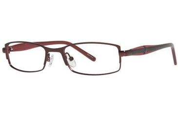 Visions 196 Bifocal Prescription Eyeglasses - Frame Burgundy/Black VIVISION19603