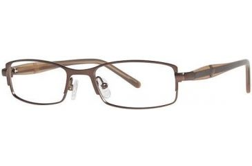 Visions 196 Bifocal Prescription Eyeglasses - Frame Dark Brown/Light Brown VIVISION19602