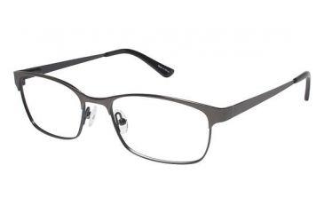 Visions 200 Eyeglass Frames - Frame Matte Dark Gun Metal / Teal, Size 53/16mm VIVISION20001