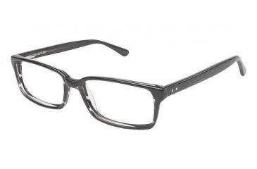 Visions 202 Bifocal Prescription Eyeglasses - Frame Black / Crystal, Size 54/15mm VIVISION20201
