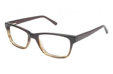 Visions 204 Bifocal Prescription Eyeglasses - Frame Brown Fade, Size 51/17mm VIVISION20402