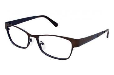 Visions 206 Progressive Prescription Eyeglasses - Frame Matte Dark Brown / Matte Navy, Size 54/16mm VIVISION20601
