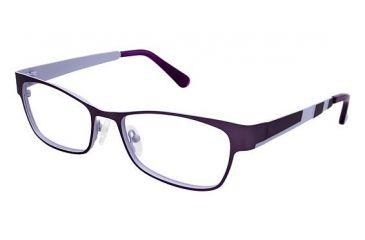 Visions 206 Progressive Prescription Eyeglasses - Frame Matte Eggplant / Lilac, Size 54/16mm VIVISION20603