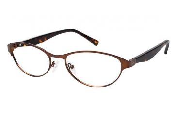 Visions 207 Single Vision Prescription Eyeglasses - Frame Brown, Size 53/17mm VIVISIONS20702