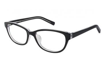 Visions 211A Single Vision Prescription Eyeglasses - Frame Black, Size 53/16mm VIVISION211A01