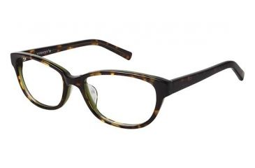 Visions 211A Single Vision Prescription Eyeglasses - Frame Olive Tortoise, Size 53/16mm VIVISION211A02