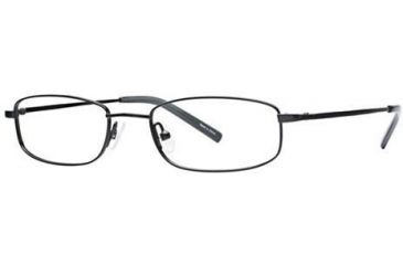 Visions 150 Single Vision Prescription Eyeglasses - Frame Black, Size 49/18mm VIVISION15003