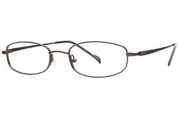 Visions 153 Progressive Prescription Eyeglasses - Frame Brown, Size 49/18mm VIVISION15301