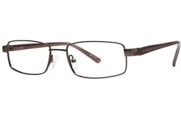 Visions 158 Single Vision Prescription Eyeglasses - Frame Brown, Size 52/17mm VIVISION15801