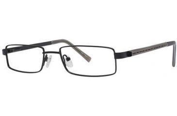 Visions 173 Progressive Prescription Eyeglasses - Frame Semi-Matte Black/Pewter, Size 49/17mm VIVISION17301