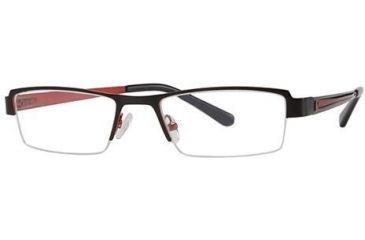 Visions 178 Progressive Prescription Eyeglasses - Frame Black/Red, Size 50/18mm VIVISION17801