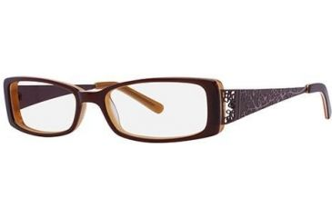 Visions 183 Single Vision Prescription Eyeglasses - Frame Brown/Amber, Size 51/14mm VIVISION18302