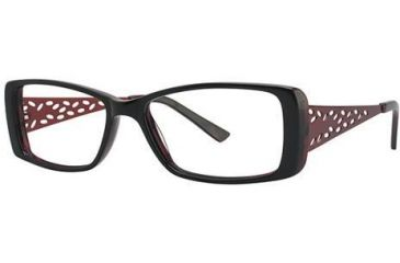 Visions 188 Progressive Prescription Eyeglasses - Frame Ebony/Brick VIVISION18801