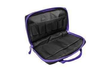 VISM Discreet Handgun / Pistol Case, Black w/ Purple Trim CPBPR2903