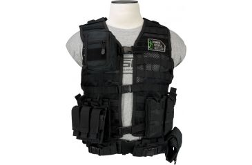 Vism Zombie Zombat Kit, Black - with Vest and 5 Pouches