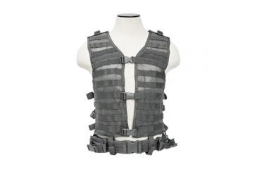 VISM MOLLE/PALS Hydration Ready Tactical Vest, Urban Gray, Large, 12in. W x 2in. H x 17in. D 196637