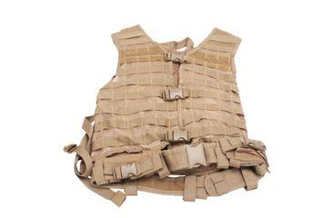VISM Zombie Dead Ops Kit w/ Vest and 4 Mag Pouches, Tan, Rezurrection Kit w/ Vest, MOLLE Panel, 4 Pouches 196627