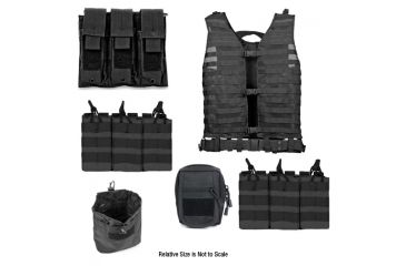Zombie Zombat Kit, Black - with Vest and 5 Pouches