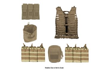 Zombie Zombat Kit, Tan - with Vest and 5 Pouches