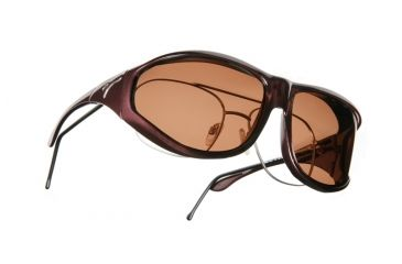 Vistana Burgundy Frame XL Copper Polare Lens Sunglasses W209C