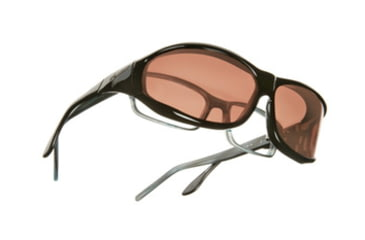 Vistana Black Frame M Copper Polare Lens Sunglasses W402C