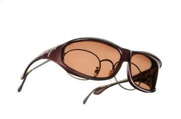Vistana Burgundy Frame M Copper Polare Lens Sunglasses W409C
