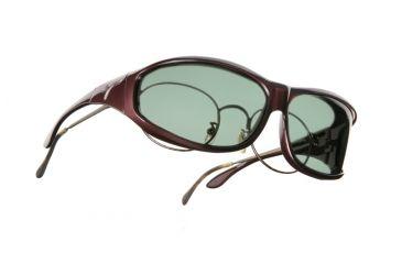 Vistana Burgundy Frame M Gray Polare Lens Sunglasses W409G
