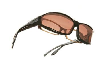 Vistana Black Frame MS Copper Polare Lens Sunglasses W412C