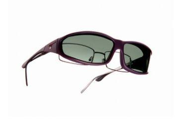 Vistana Soft Touch Violet Frame MS Gray Polare Lens Sunglasses WS416G