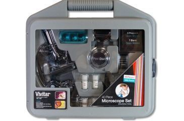 Vivitar 28 Piece Microscope Kit w/Case VIV-MIC-2