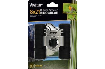 Vivitar Classic Series 8x21 Sports Rubberized Binoculars VIV-CS-821