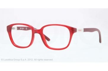 Vogue BABY 82 VO2810 Progressive Prescription Eyeglasses 1947-43 - Matte Red Transp Frame, Demo Lens Lenses
