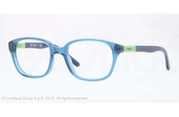 Vogue BABY 82 VO2810 Progressive Prescription Eyeglasses 2065-43 - Transparent Blue Frame, Demo Lens Lenses