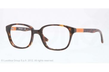 Vogue BABY 82 VO2810 Progressive Prescription Eyeglasses W656-43 - Dark Havana Frame, Demo Lens Lenses