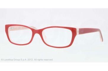 Vogue BABY 83 VO2811 Single Vision Prescription Eyeglasses 2013-45 - Top Tr Red/pink Frame, Demo Lens Lenses