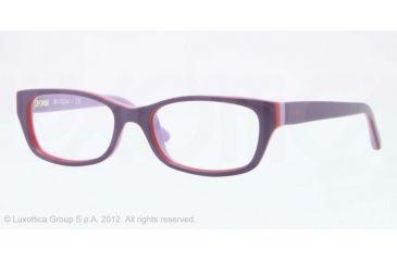 Vogue BABY 83 VO2811 Single Vision Prescription Eyeglasses 2077-45 - Violet/orange/lilac Frame, Demo Lens Lenses