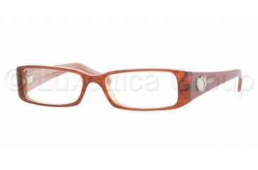 Vogue VO 2553 Eyeglasses Styles - Brown On Beige Horn Frame w/Non-Rx 49 mm Diameter Lenses, 1638-4915